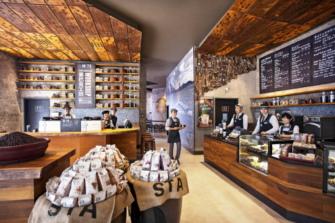 Starbucks partners at the Starbucks Kerry Center 'coffee tribute' store (Photo: Business Wire)