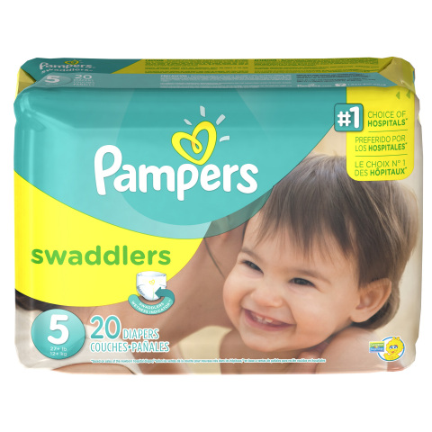 Pampers Swaddlers, Pampers' softest diaper and the #1 choice of hospitals, is now available through size 5. (Photo: Business Wire)
