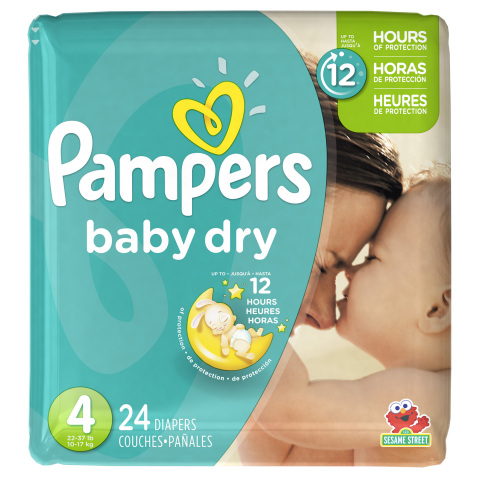 Pampers Baby Dry provides up to 12 hours of overnight protection and three layers of absorbency. (Photo: Business Wire)