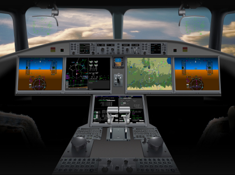 The Bombardier CSeries features Rockwell Collins' award-winning Pro Line Fusion(R) avionics, includi ...