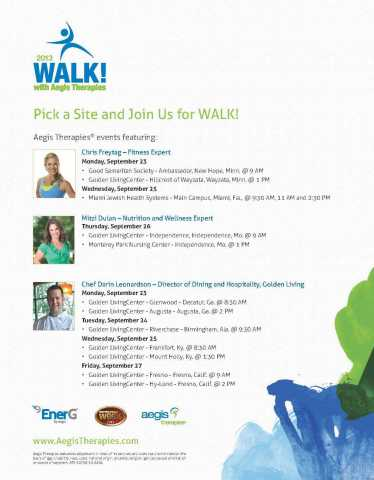 Pick a Site and Join Us for WALK! 2013 (Photo: Business Wire)
