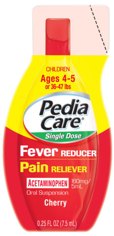 PediaCare(R) Single Dose Acetaminophen Fever Reducer/Pain Reliever is the only pre-measured acetaminophen product packaged in individual, squeezable packets, making the process of dosing simple and providing parents with peace of mind. (Photo: Business Wire)