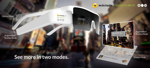 Wikitude / Optinvent AR Glasses (Graphic: Business Wire)