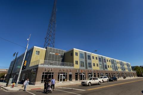 NCB Capital Impact's mission is to help people and communities reach their highest potential at every stage of life. With its $2.75 million NEXT Opportunity Award, Capital Impact will finance affordable housing, charter schools, and other critical services in the Woodward Corridor area of Detroit, such as the Auburn, a mixed-use affordable housing and retail facility. (Photo: Business Wire)