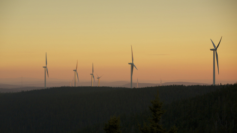 The 300 MW Lac-Alfred Wind Project in Quebec. (Photo: Business Wire)