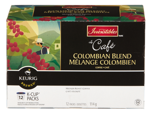 Le Cafe Colombian Blend, a medium roast coffee which offers a balanced, fruity and light taste (Phot ...