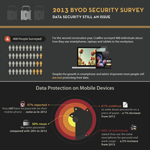 Bring Your Own Device (BYOD) survey shows data security still an issue for mobile devices in the workplace. (Graphic: Business Wire)