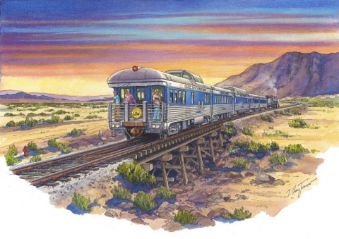 Artist Rendering of Cadiz Southeastern Railway en route to Cadiz, California. (Graphic: Business Wire)