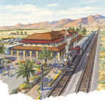 Artist Rendering of Cadiz Southeastern Railway Depot, Museum & Cultural Center planned for Cadiz,California. (Graphic: Business Wire)