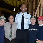 For the first time in thirty years, Airplane! directors and cast members David Zucker, Robert Hays, Kareem Abdul-Jabbar, Jerry Zucker, Jim Abrahams reunite to film Wisconsin Tourism commercials in Los Angeles on September 19, 2013. (Photo: Business Wire)