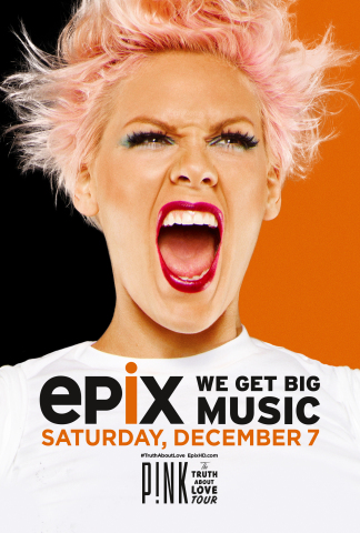 EPIX presents the World Premiere Concert Special, THE TRUTH ABOUT LOVE TOUR, on Saturday, December 7 ...