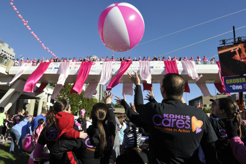 Kohl's associates take part in event activities at the 2013 Susan G. Komen Race for the Cure on Milw ...