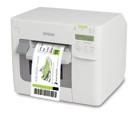 Epson ColorWorks C3500 Inkjet Label Printer (Photo: Business Wire)