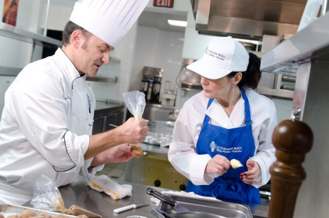 Le Cordon Bleu Chef Instructor Mark Levasseur teaches foundational cooking techniques in the new Le ...