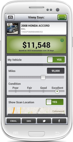 Vinny 2.0 for Android. (Graphic: Business Wire)