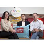 eBay sellers in the UK can now offer collection at Argos stores. With Tanya Lawler UK Vice President eBay, John Walden MD Argos, Devin Wenig President eBay (Photo: Business Wire)