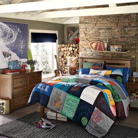 Burton Graphic Tee Quilt + Sham (Photo: Business Wire)