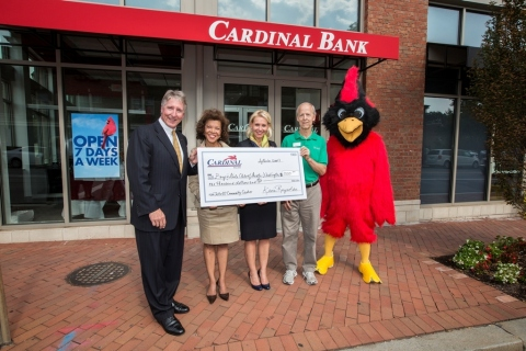 (L-R): Cardinal Bank Regional President Kevin Reynolds; Boys & Girls Club of Greater Washington Pres ...