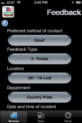 TruckSmart, for TA and Petro, offers a new Feedback input feature for drivers to report concerns or offer praise on locations and employees. (Graphic: Business Wire)