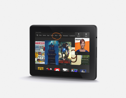 The Mayday button on the new Kindle Fire HDX. (Photo: Business Wire)