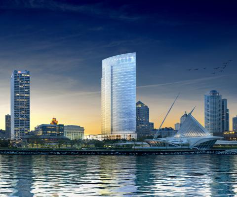 Rendering of Northwestern Mutual Tower in Milwaukee skyline (c)Studio AMD (Photo: Business Wire)