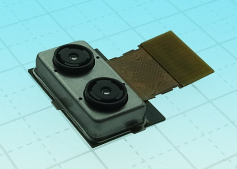 """Toshiba: Dual Camera Module, """"TCM9518MD"""", Enabling Simultaneous Output of Images and Depth Data (Photo: Business Wire)"""