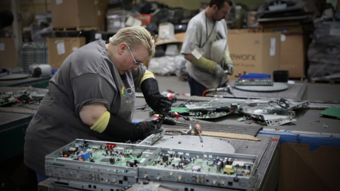 This year, DISH is extending its program to recycle with Reworx - an electronics recycling program that employs individuals with disabilities and those who face barriers to traditional hiring. (Photo: Business Wire)