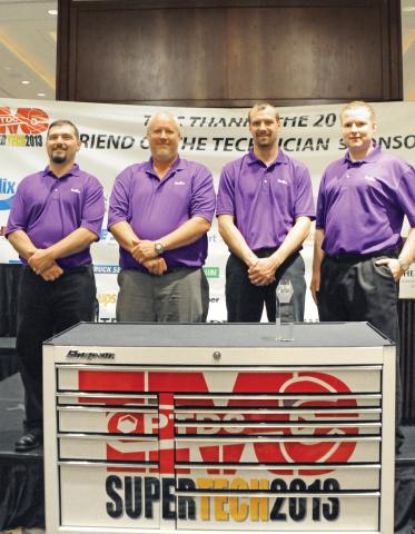 FedEx Freight fleet maintenance technicians swept the top four spots at the national 2013 TMC SuperT ...