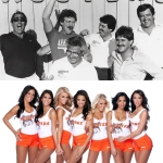 "The original ""Hooters Six"" founders opened the first Hooters in Clearwater, Fla., on Oct. 4, 1983. Hooters is hosting a 30th birthday bash with week-long deals, Hooters Girl reunion parties and a massive free wing giveaway. (Photo: Business Wire)"