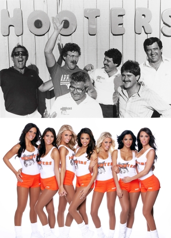 """The original """"Hooters Six"""" founders opened the first Hooters in Clearwater, Fla., on Oct. 4, 1983. Hooters is hosting a 30th birthday bash with week-long deals, Hooters Girl reunion parties and a massive free wing giveaway. (Photo: Business Wire)"""