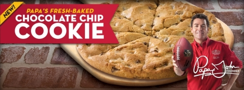 Papa John's freshly baked, family sized cookie is just $5 with any pizza purchase through Oct. 27. (Photo: Business Wire)