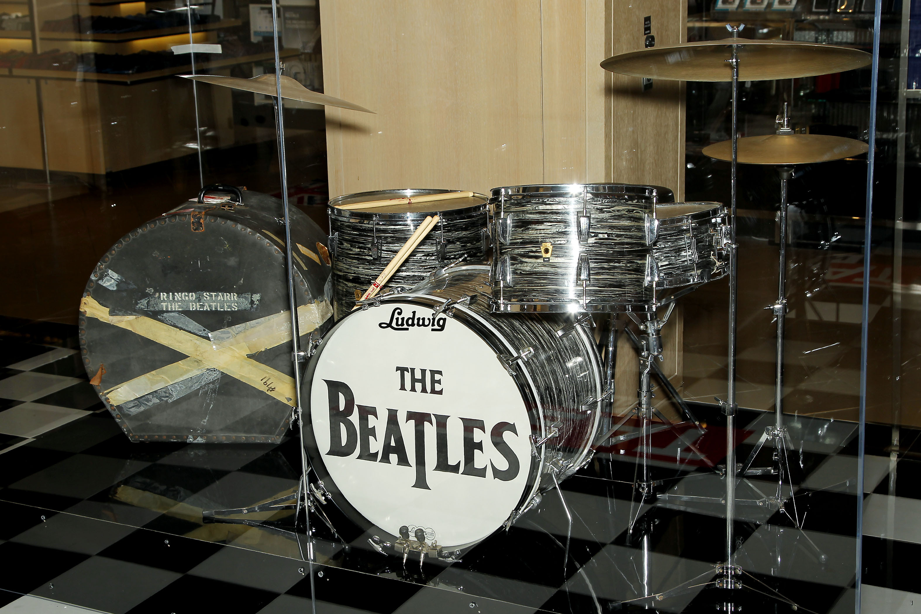 Bloomingdales Proudly Unveils The Exclusive Display Of Ringo Starrs Shea Stadium Drum Kit