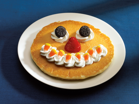 """IHOP restaurants are bringing back the """"Scary Face"""" pancake this October and a special Halloween tre ..."""