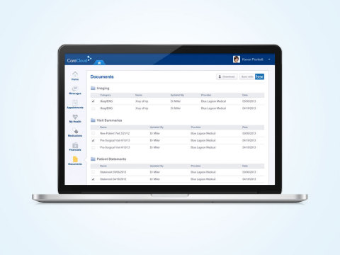 Patients using the CareCloud Community portal can conveniently sync their clinical and financial documents directly to their Box account (Photo: Business Wire)