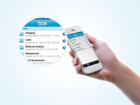 Box account holders can also access their clinical and financial documents via CareCloud's Mobile Patient Portal (Photo: Business Wire)