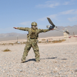 AeroVironment's RQ-11B Raven Small Unmanned Aircraft Systems (UAS) and Gimbaled Sensor Payload (Photo: Business Wire)