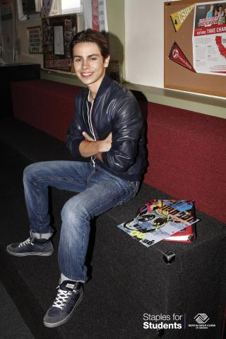 This summer, teen actor Jake T. Austin teamed up with Staples and Boys & Girls Clubs of America for the 6th Annual Staples for Students national school supply drive. (Photo: Business Wire)