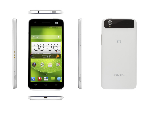 ZTE launches the Grand S, the most beautiful smartphone with one of the slimmest award winning designs available in the U.S. (Photo: Business Wire)