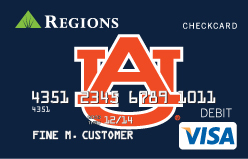 Regions Bank Introduces Auburn® Regions Visa® CheckCard (Photo: Business Wire)