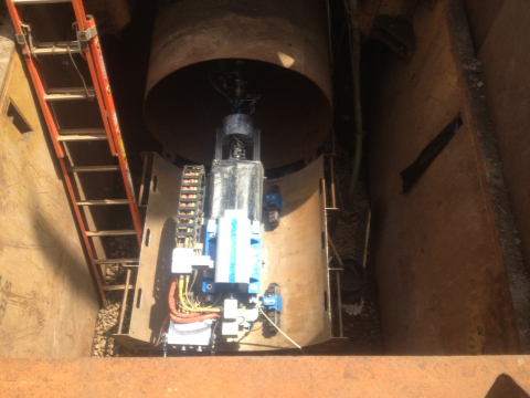 Tacoma, WA - Quest Inspar's robot delivers world's first robotically applied liner to a large buried ...