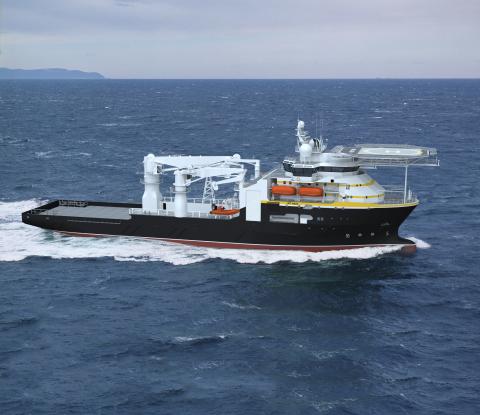 Oceaneering International, Inc. has selected BAE Systems to build a subsea support vessel for offshore drilling. (Graphic: Oceaneering International)