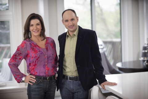 David Visentin and his co-worker Hilary Farr