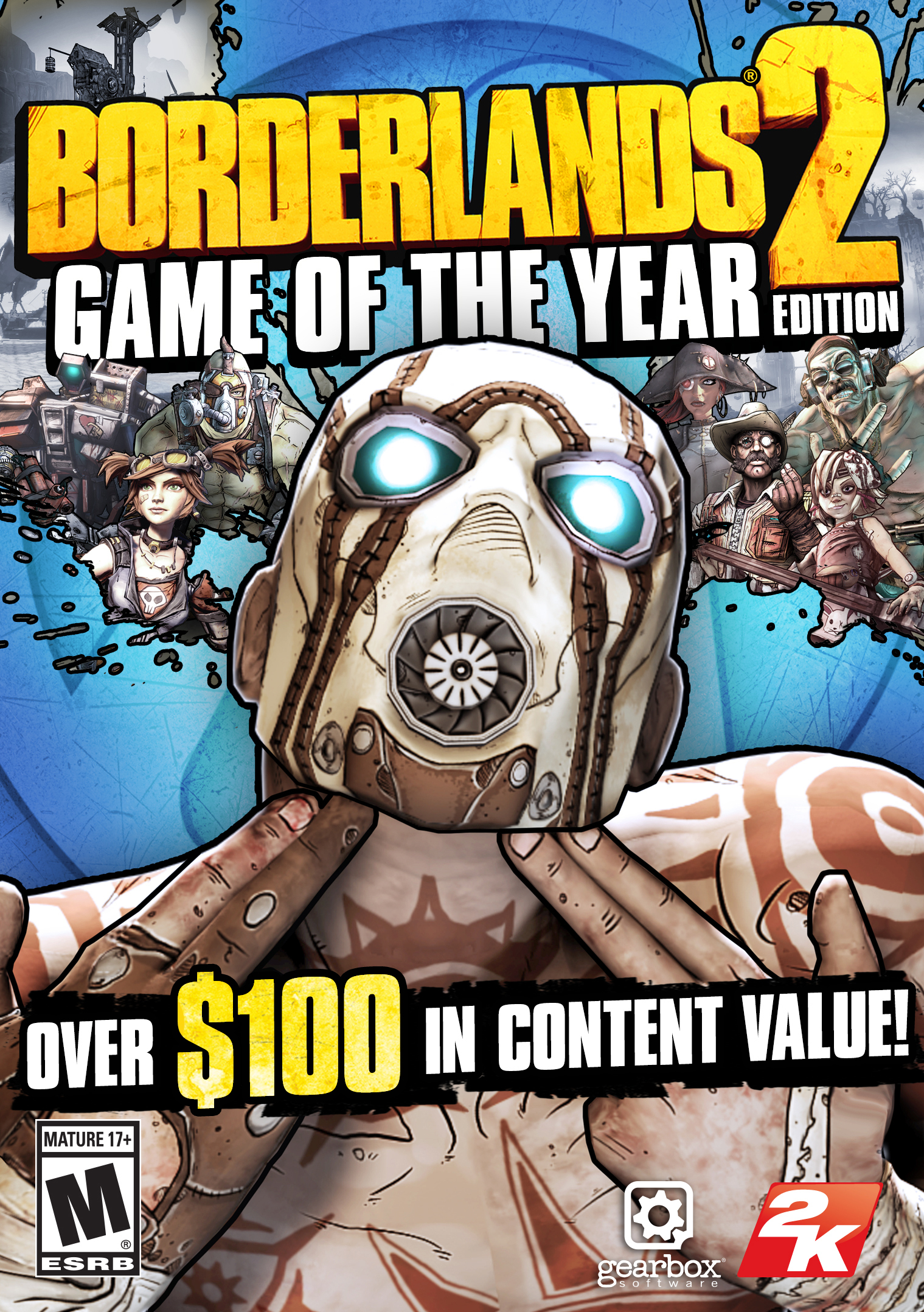 2K and Gearbox Software today announced that the Borderlands® 2 Game of the Year Edition is now available on all platforms in North America, and will be available internationally on October 11, 2013. (Graphic: Business Wire)