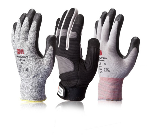 Designed with electricians and contractors in mind, the new 3M Comfort Grip and Gripping Material work gloves provide physical protection from cuts, punctures and abrasions while increasing dexterity and grip. Photo credit: 3M
