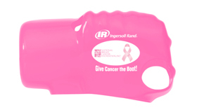 The Ingersoll Rand pink protective tool boot comes with purchase of qualifying Impactool kits, 231HA-BCA, 231HA-2-BCA, 231C-BCA. (Graphic: Business Wire)