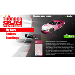 "Ingersoll Rand's Thunder Gun Pit Crew Titans mobile app, which allows users to experience a virtual racing pit stop and compete against their friends, features the ""Team Breast Cancer Awareness"" pink car throughout the month of October. (Graphic: Business Wire)"