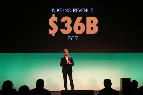 NIKE, Inc. President & CEO Mark Parker announcing the company's new FY17 revenue target of $36 billi ...