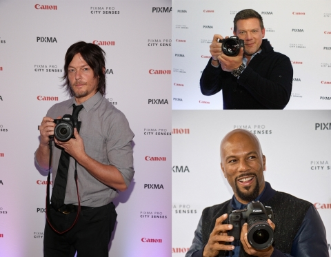 Canon PIXMA PRO City Senses gallery series hosts Norman Reedus, COMMON and Tyler Florence (Photo: Bu ...