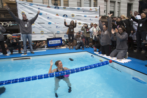 Long-distance swim legend Diana Nyad completes 48-hour