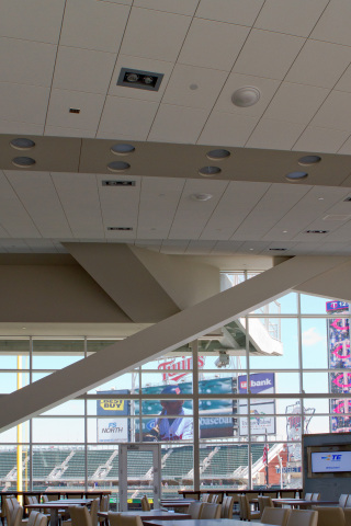 TE antennas installed in the ceiling of a Target Field lounge (Photo: Business Wire)